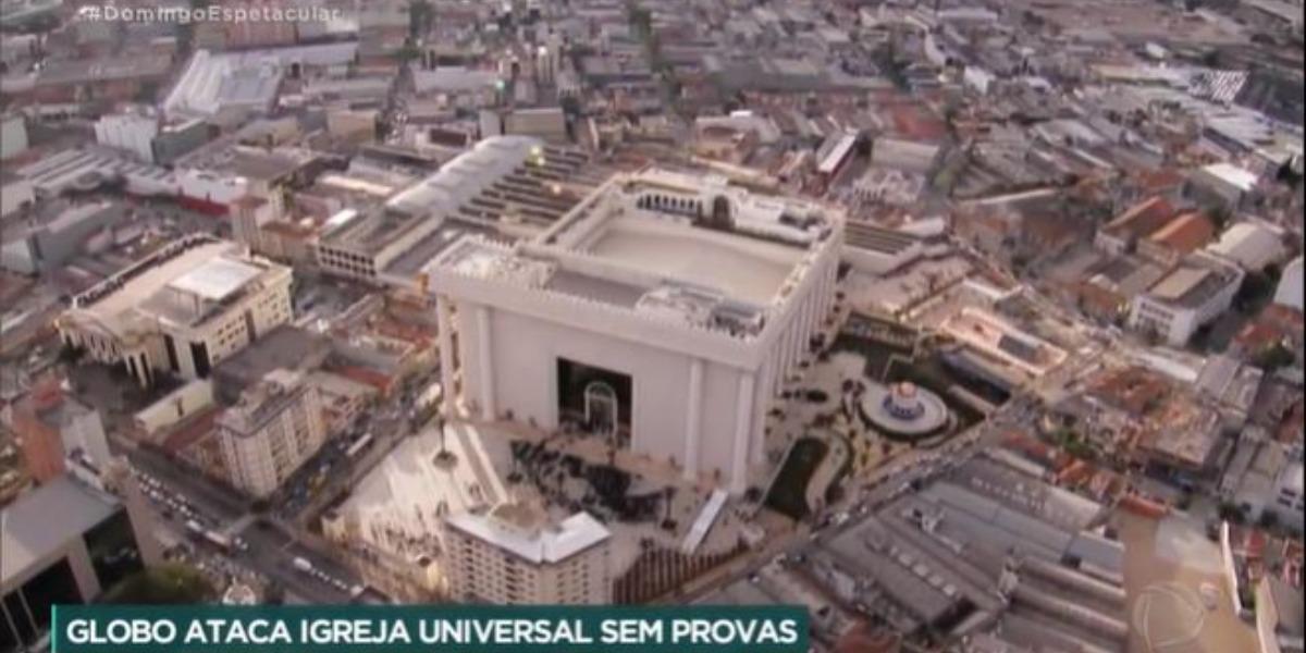 A Igreja Universal do Reino de Deus se tornou alvo de ataques da Globo (Foto: Reprodução/Record)