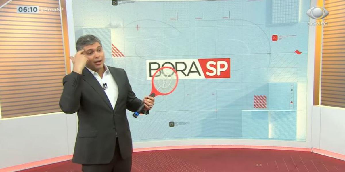 Joel Datena tem péssima audiência com o Bora SP (Foto: Reprodução/Band)