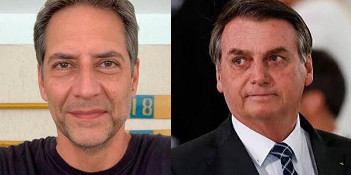 Lacombe não quer ser associado como apoiador de Bolsonaro (Foto: Montagem)