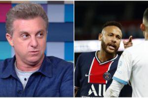 Luciano Huck defendeu Neymar após episódio de racismo - Foto: Montagem