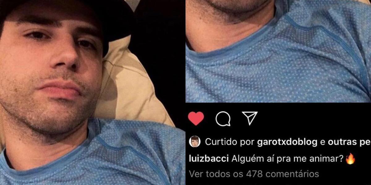 Luiz Bacci provocou os fãs em post nas redes sociais (Foto: Reprodução/Instagram)