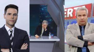 Luiz Bacci, Datena e Sikêra Jr podem ser impedidos de trabalhar entre a manhã e a noite na televisão (Foto: Reprodução/Record/Band/RedeTV!)