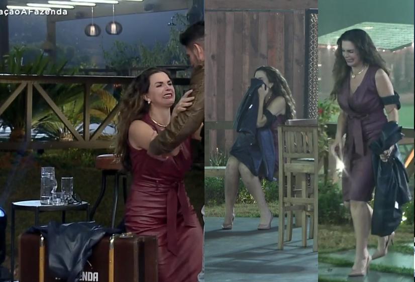 Luiza vence, não acredita, e passa mal no caminho de volta no reality show da Record (Foto: Reprodução) A Fazenda
