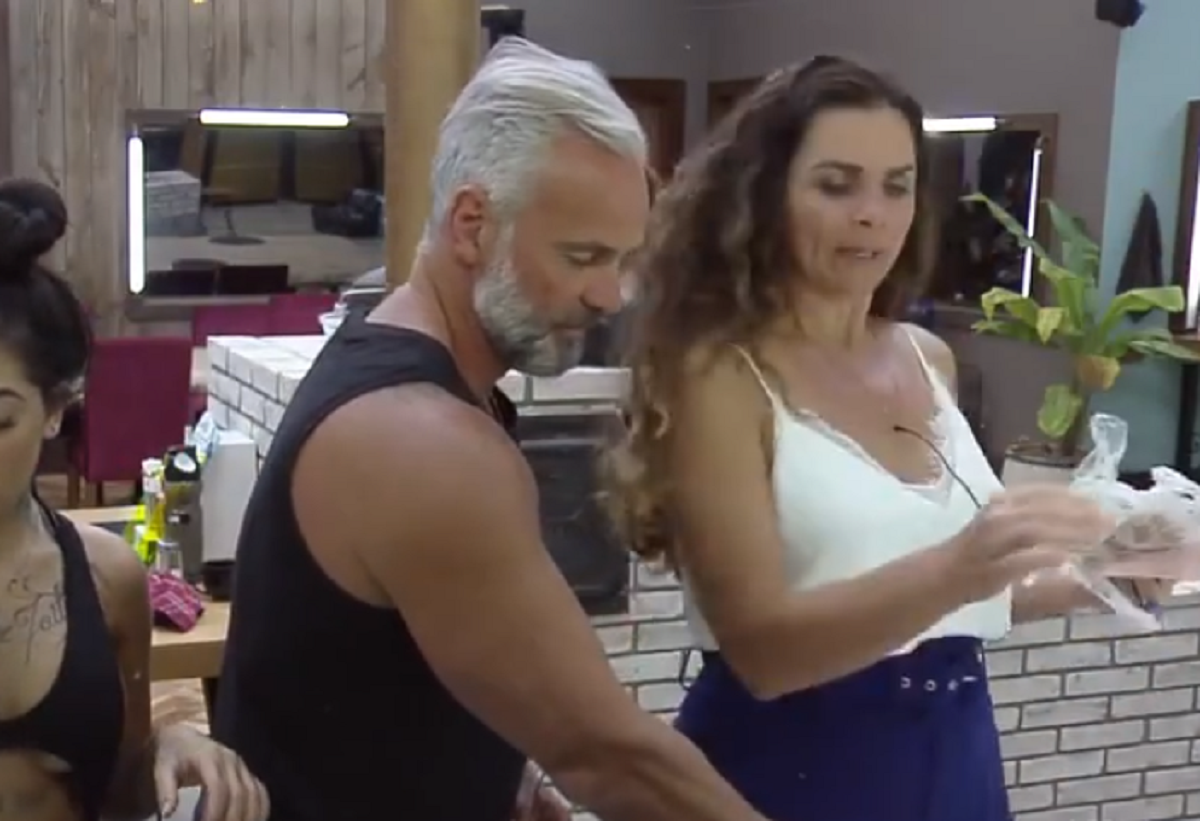 Mateus e Luiza Ambiel tiveram discussão na cozinha (Foto: Reprodução)