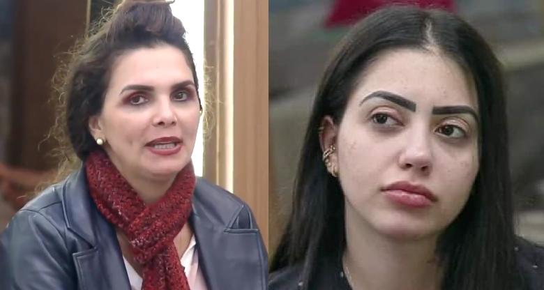 Luiza Ambiel diz que Mirella tá parecendo a Minnie travesti no reality (Foto: Reprodução) A Fazenda