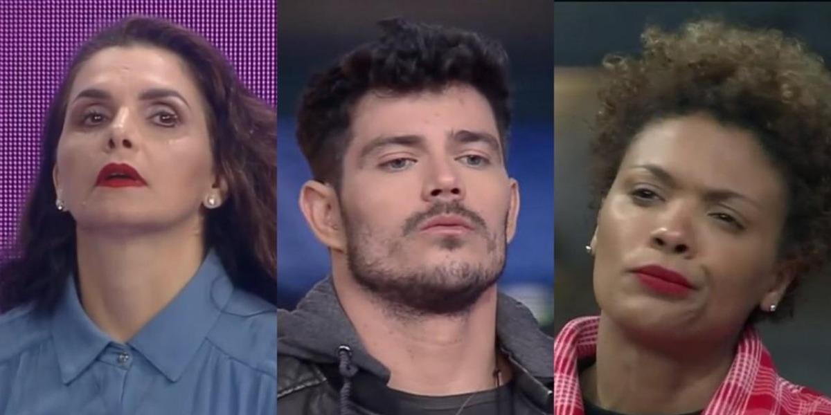 Luiza Ambiel, JP Gadêlha e Lidi Lisboa são os peões de A Fazenda 12 que estão na roça (Foto: Reprodução)