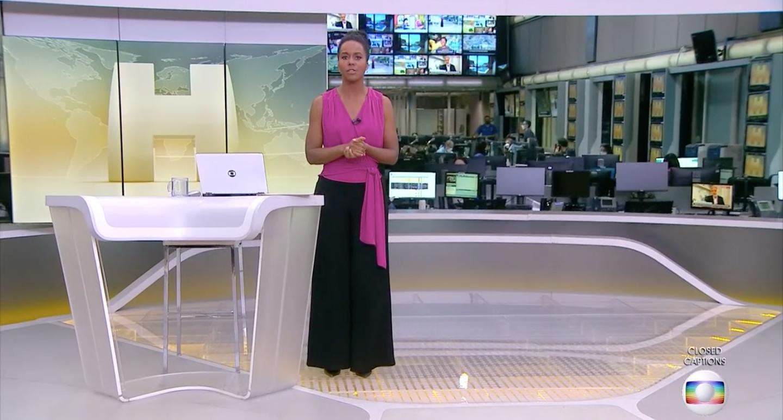 Maju Coutinho no 'Jornal Hoje' (Foto: reprodução/Globo)