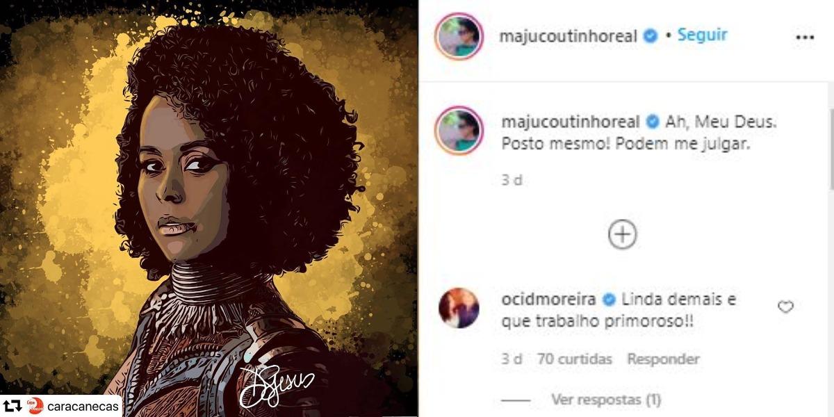 Maju Coutinho ganhou homenagem de fãs (Foto: Reprodução/Instagram)