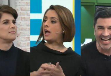 """Mariana Godoy, Catia Fonseca e Edu Guedes se divertiram no """"Melhor da Tarde"""" (Foto: Reprodução/Band)"""