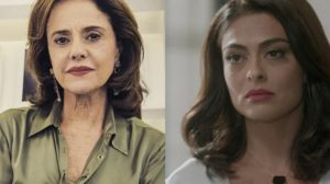 Marieta Severo e Juliana Paes: atrizes contracenaram juntas em Laços de Família (Foto: Reprodução/Globo)