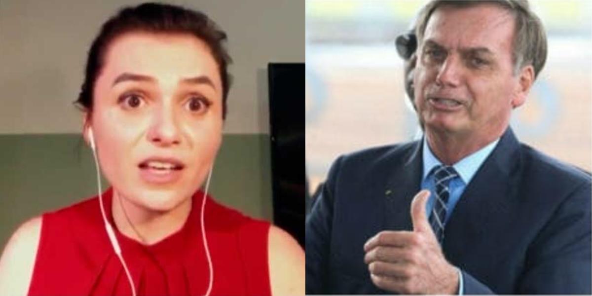 Monica Iozzi se arrepende de ter entrevistado Bolsonaro (Foto: Reprodução)