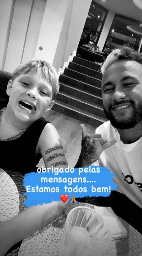 Neymar posta foto ao lado do filho (Foto: Reprodução)