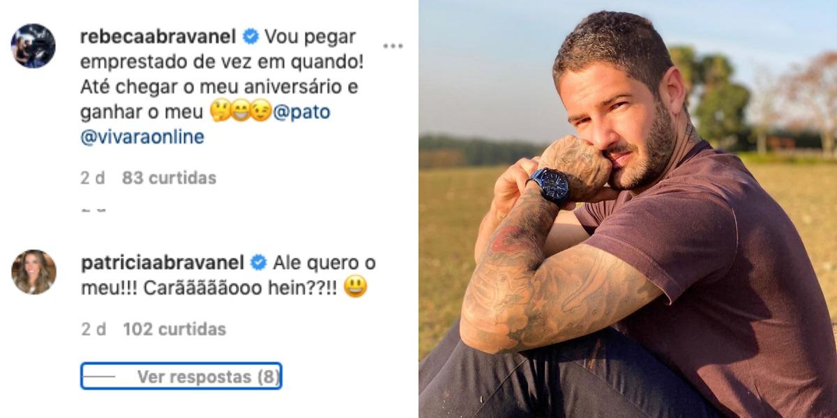 Pato, marido de Rebeca Abravanel, recebeu recado de Patrícia Abravanel (Foto: Reprodução/Instagram)