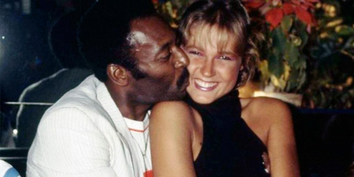 Pelé e Xuxa quando namoravam (Foto: Reprodução)