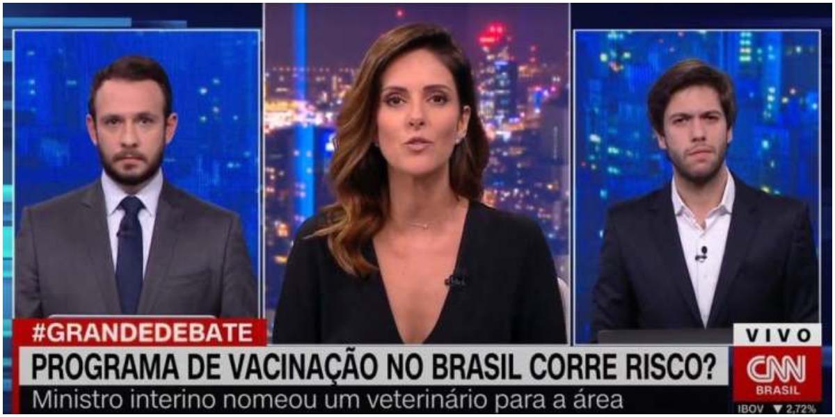 Monalisa Perrone e Caio Coppolla trocaram farpas no Grande Debate (Foto: Reprodução)