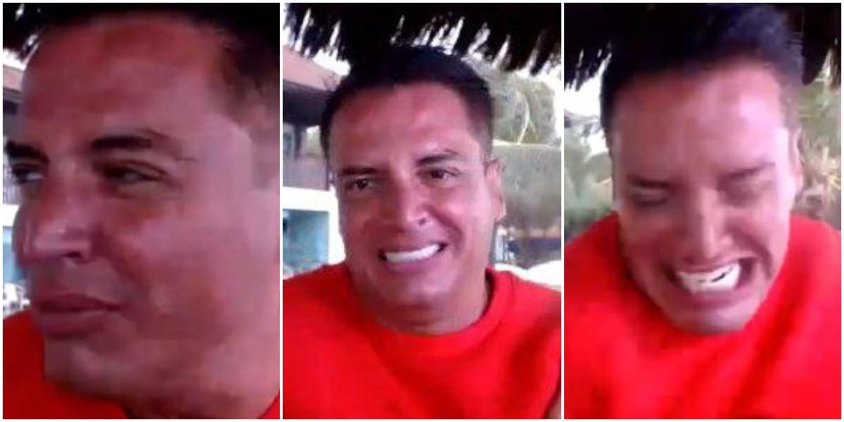 Leo Dias levou um choque ao vivo durante um programa (Foto: Reprodução/ Montagem/ TV Foco)