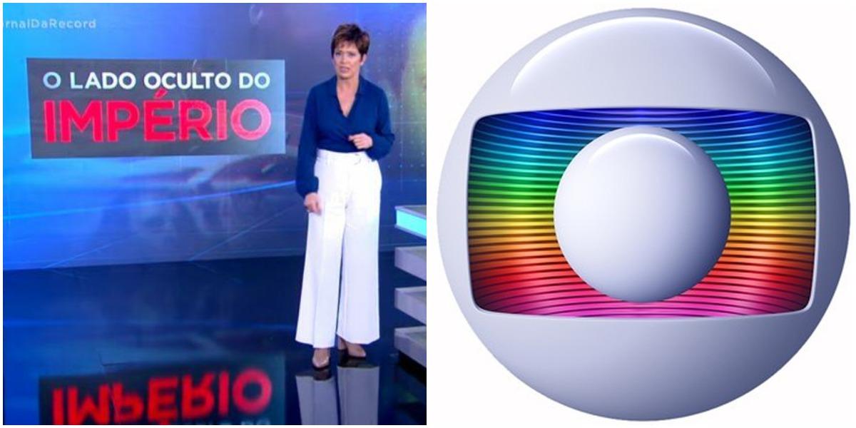 Record voltou a atacar a Globo com reportagem (Foto: Reprodução)