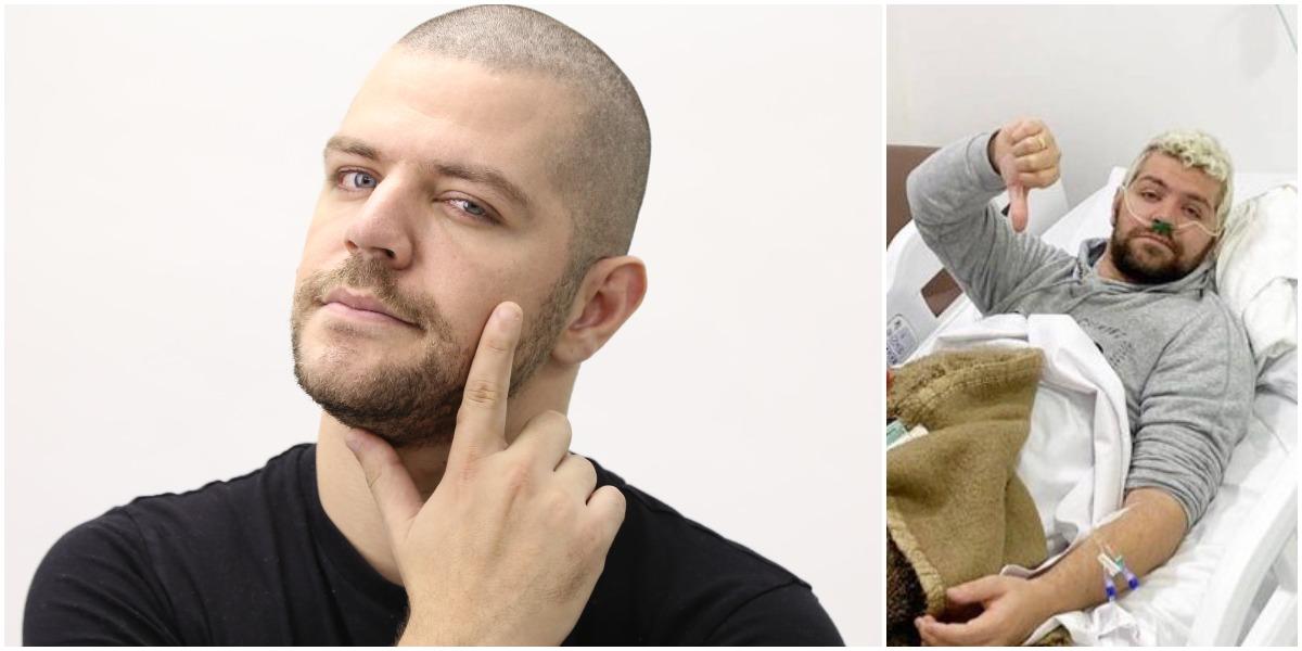 Victor Sarro passou mal enquanto gravava com Rodrigo Faro (Foto: Reprodução)