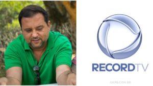 Geraldo Luís faz agradecimento à Record (Foto: Reprodução)