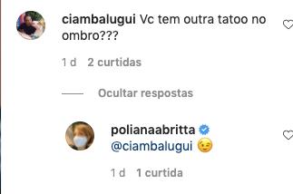 Poliana Abritta falou sobre sua tatuagem (Foto: reprodução)
