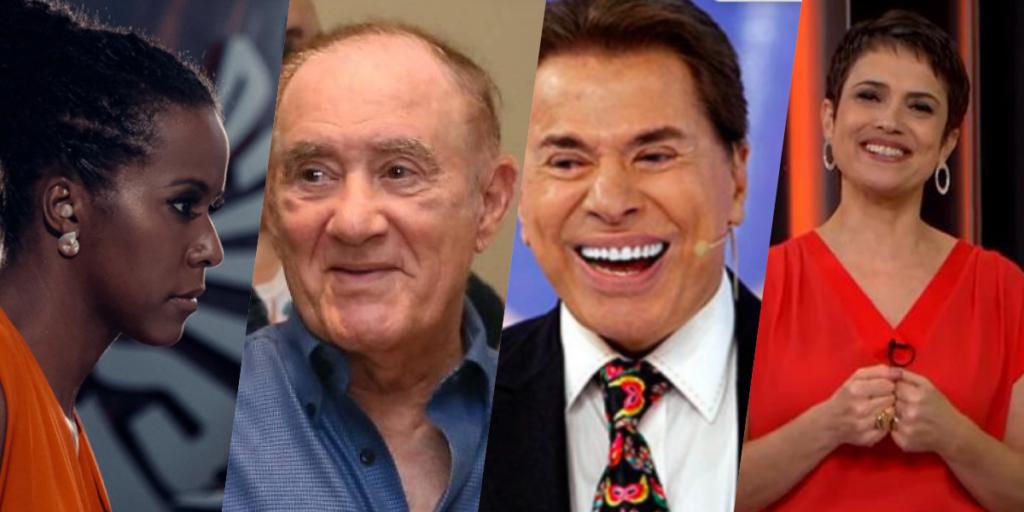 Sensitiva fez previsões bombásticas para nomes como Maju, Renato Aragão, Silvio Santos e Sandra Annenberg (Foto montagem)