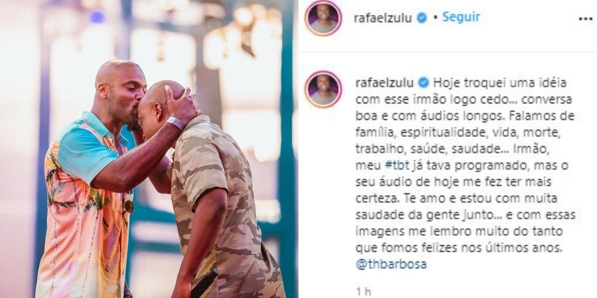 Rafael Zulu se declarou a Thiaguinho (Foto: Reprodução/Instagram)