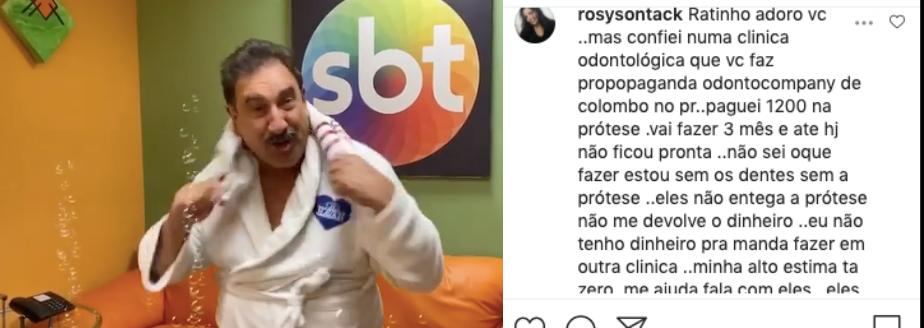 Ratinho foi desmascarado na internet (Foto: reprodução/Instagram)