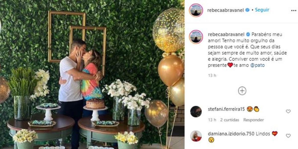 Rebeca Abravanel comemorou os 31 anos de vida de Pato (Foto: Reprodução/Instagram)