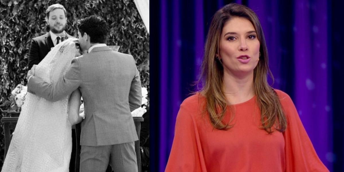 Rebeca Abravanel e Pato estão casados desde 2018 (Foto: Reprodução/SBT)