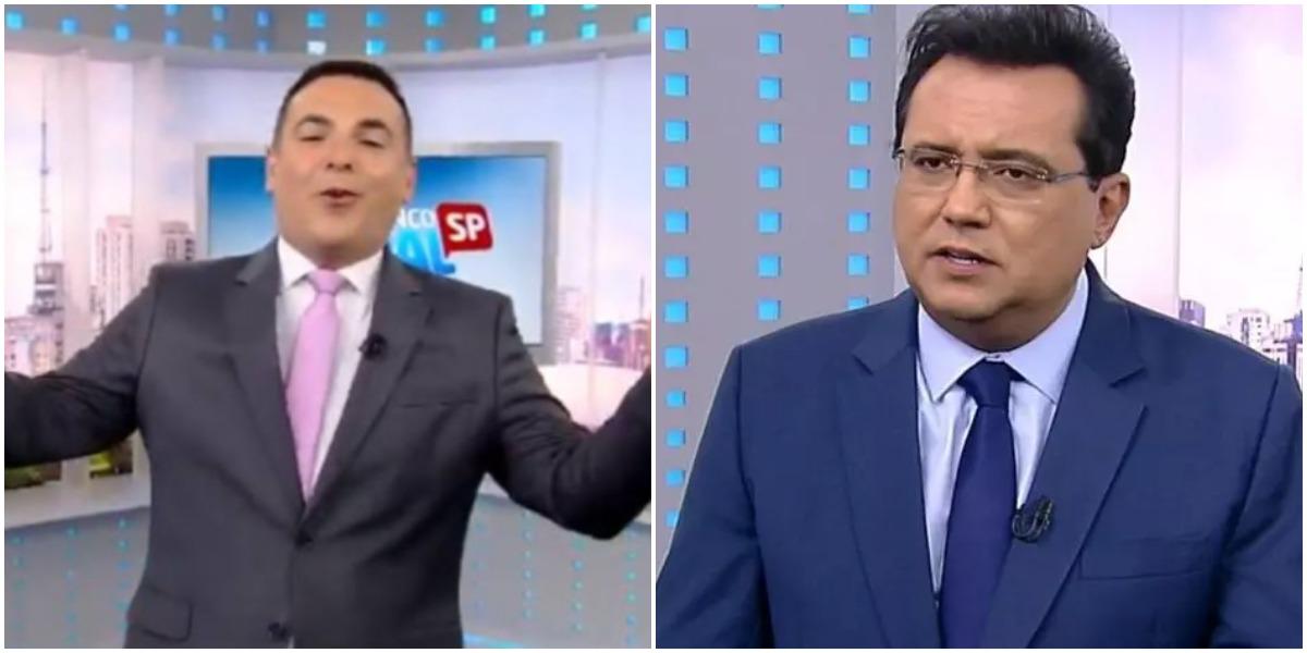 Os contratados da Record TV, Reinaldo Gottino e Geraldo Luís (Reprodução)