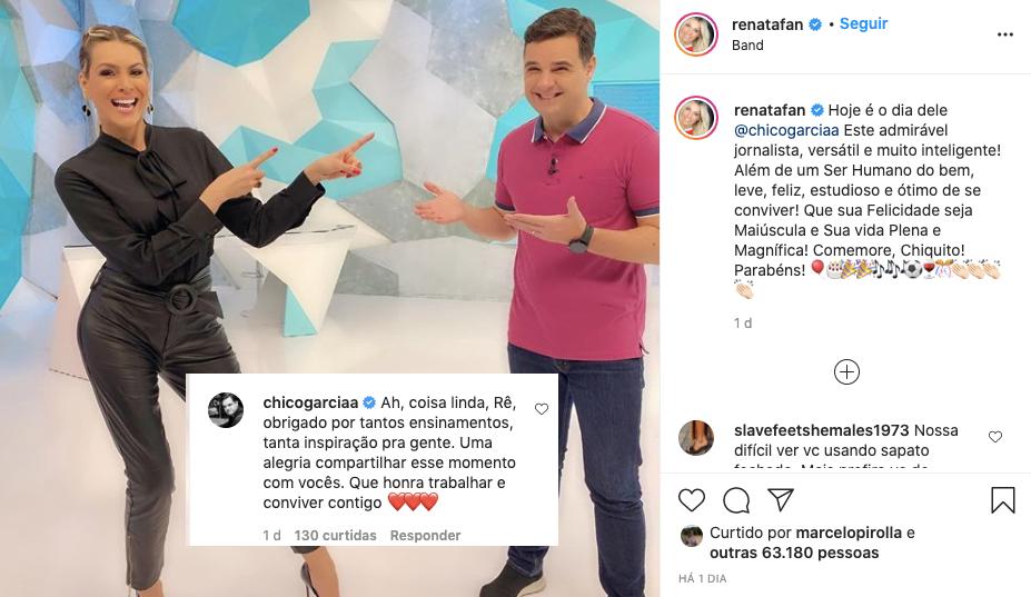 Renata Fan se declarou para um colega de trabalho (Foto: reprodução/Instagram)