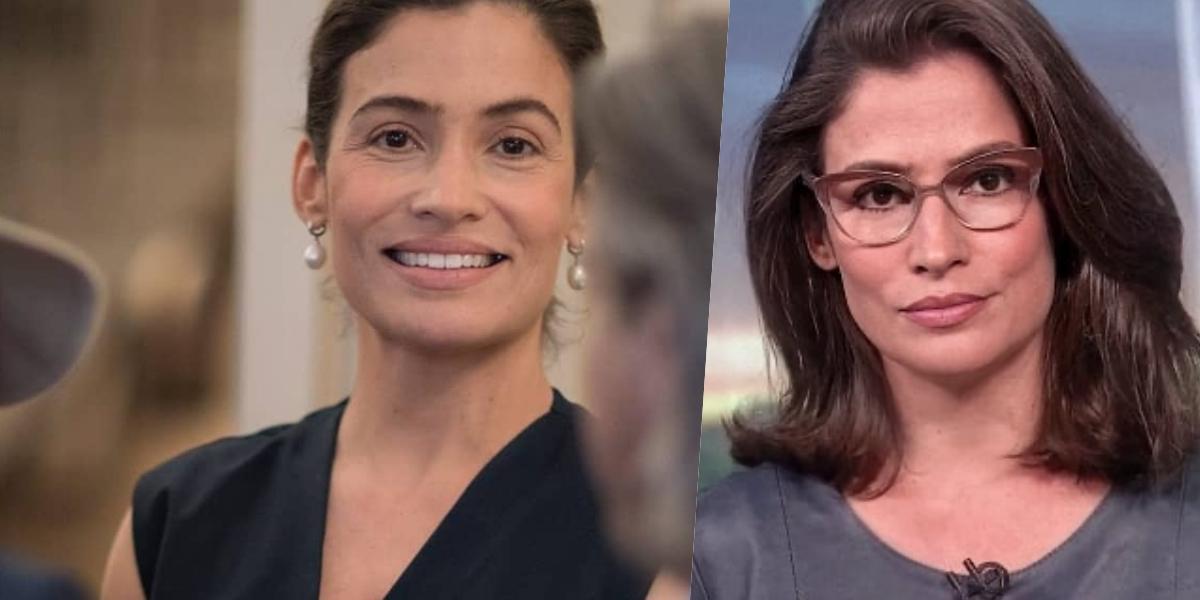 Renata Vasconcellos foi exposta nas redes sociais (Foto: reprodução/Globo)