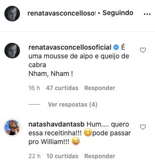 Renata Vasconcellos recebeu um recado da esposa de Bonner (Foto: reprodução)