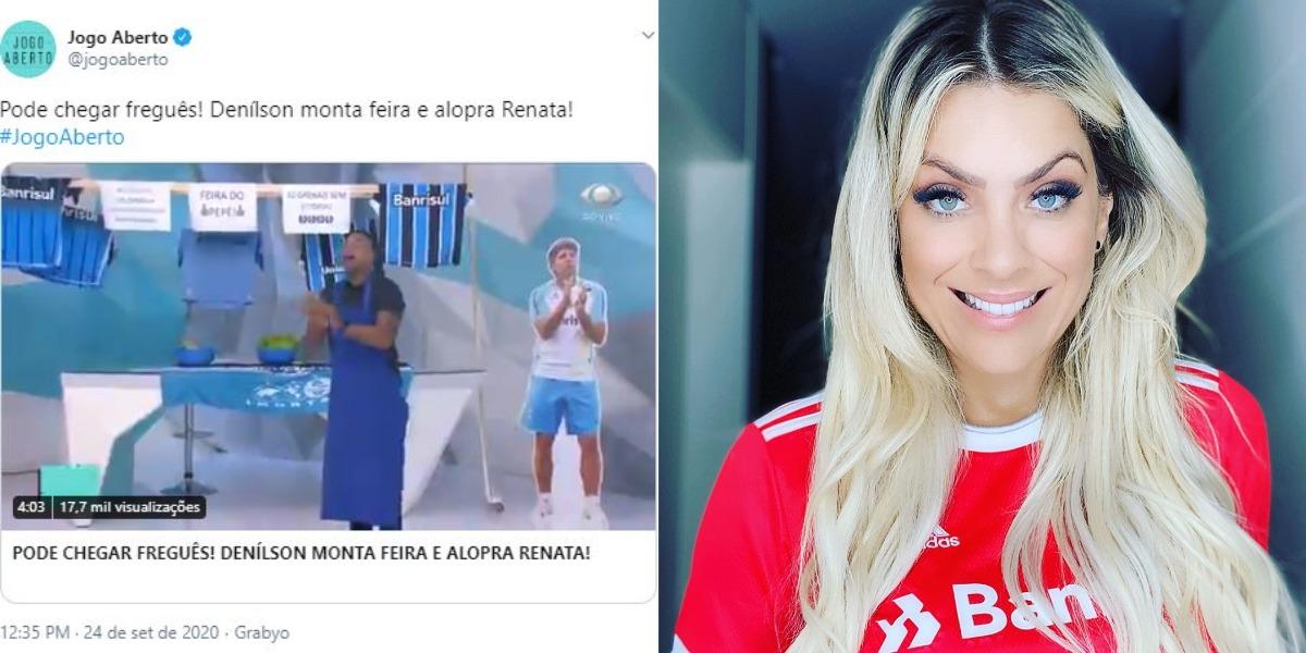 "Renata Fan apresenta o ""Jogo Aberto"" (Foto: Reprodução/Twitter/Instagram)"