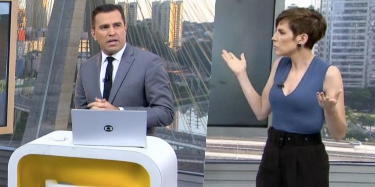 Rodrigo Bocardi expôs Glória Vanique ao vivo (Foto: reprodução/Globo)