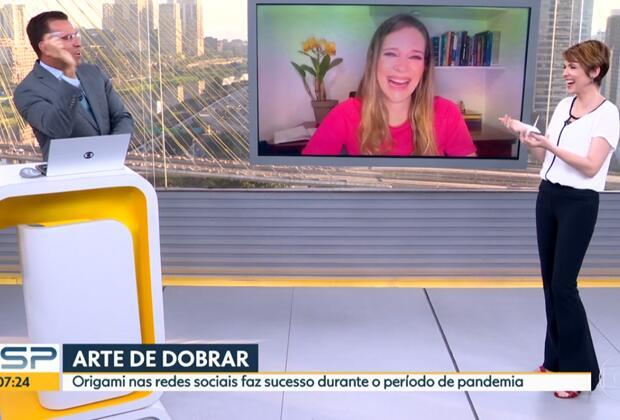Rodrigo Bocardi cometeu um erro durante o Bom Dia São Paulo (Foto: Reprodução/ Globo)