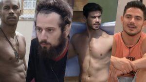 A Fazenda 12: Mariano, JP, Cartolouco e Rodrigo já mostraram demais dentro do reality show (Foto: reprodução/Record)