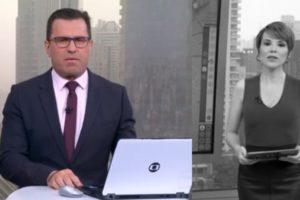 """Rodrigo Bocardi e Gloria Vanique no """"Bom Dia São Paulo"""" de hoje (Foto: Reprodução/TV Globo)"""
