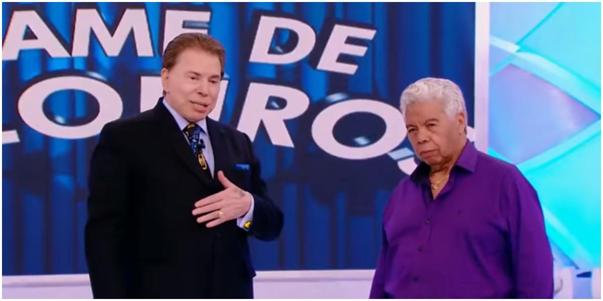 Roque ao lado do dono do SBT, Silvio Santos - Foto: Reprodução