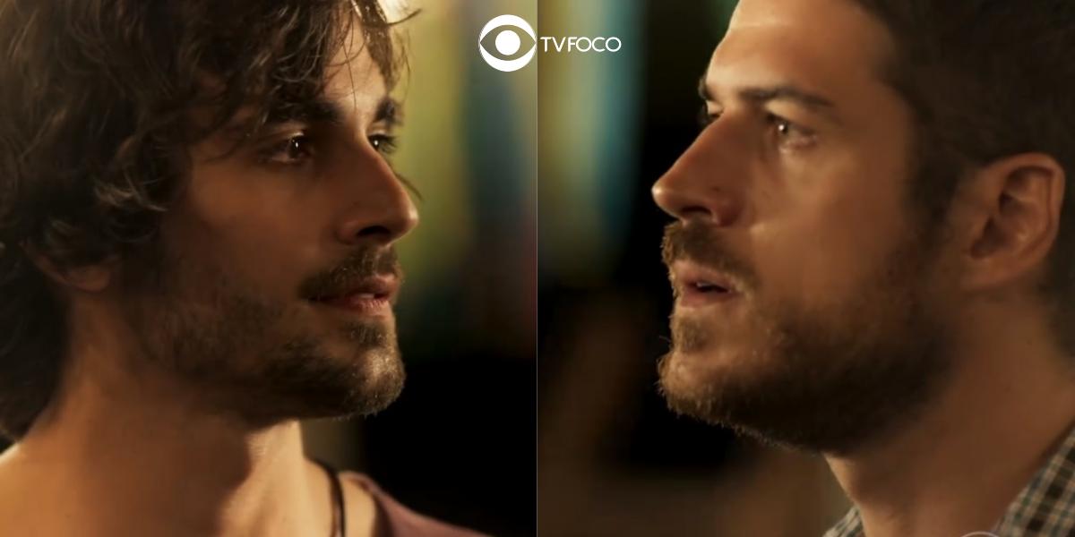 Fotomontagem do perfil de Zeca e Ruy da trama A Força do Querer