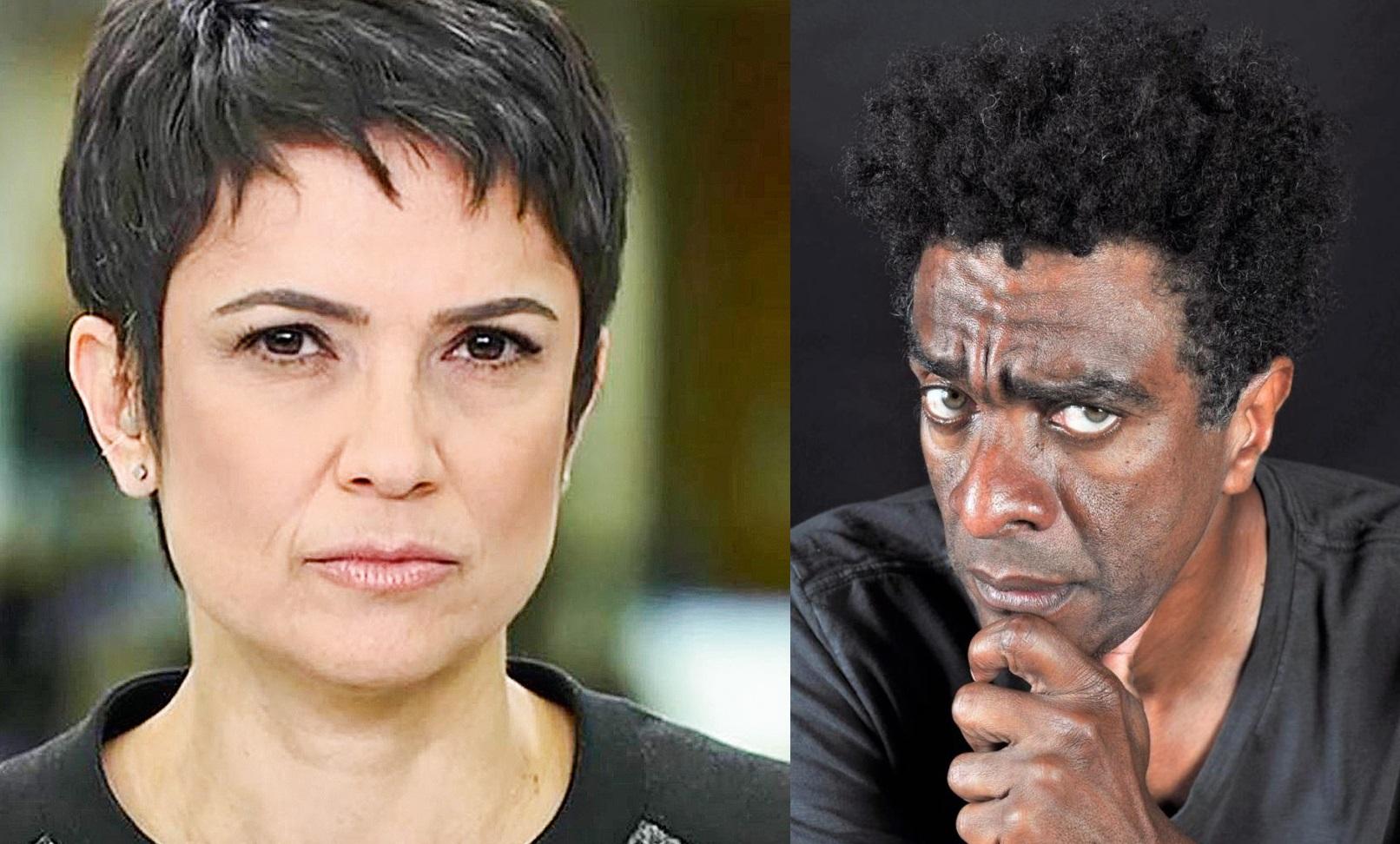 Sandra Annenberg apresentou o especial de 70 anos da TV e revoltou humoristas do Casseta e Planeta (Foto: Reprodução) Globo