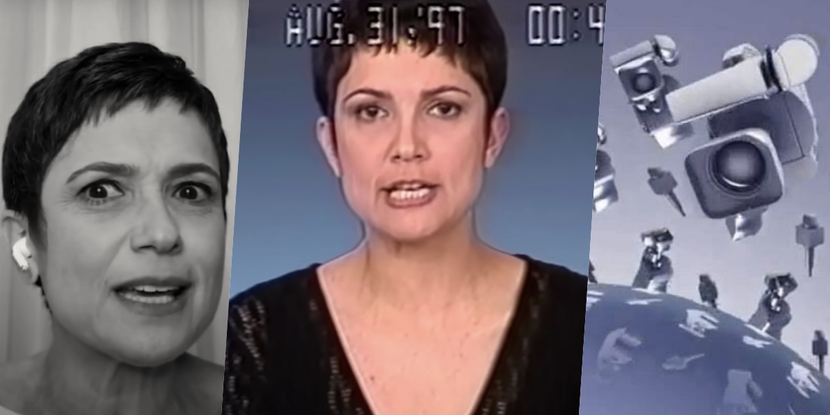 Sandra Annenberg relembrou um plantão da Globo (Foto: reprodução)