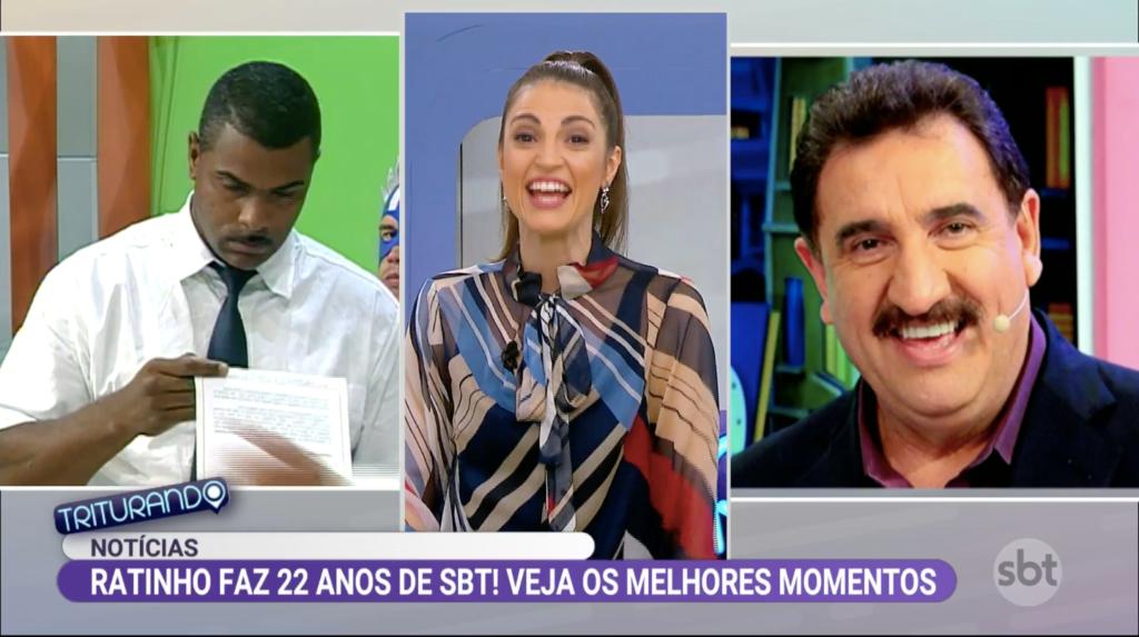 Triturando homenageia 22 anos do programa de Carlos Massa no SBT (Foto: Reprodução)