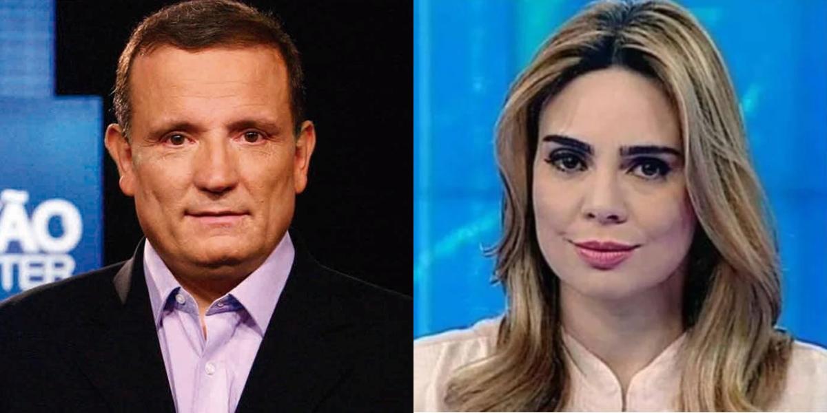 Roberto Cabrini e Rachel Sheherazade em seus programas no SBT; apresentadores foram dispensados (Foto: Reprodução/SBT)