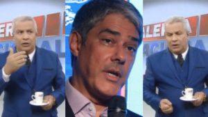 Sikêra Jr foi parar na boca de William Bonner (Foto: Reprodução/RedeTV!/TV Globo)