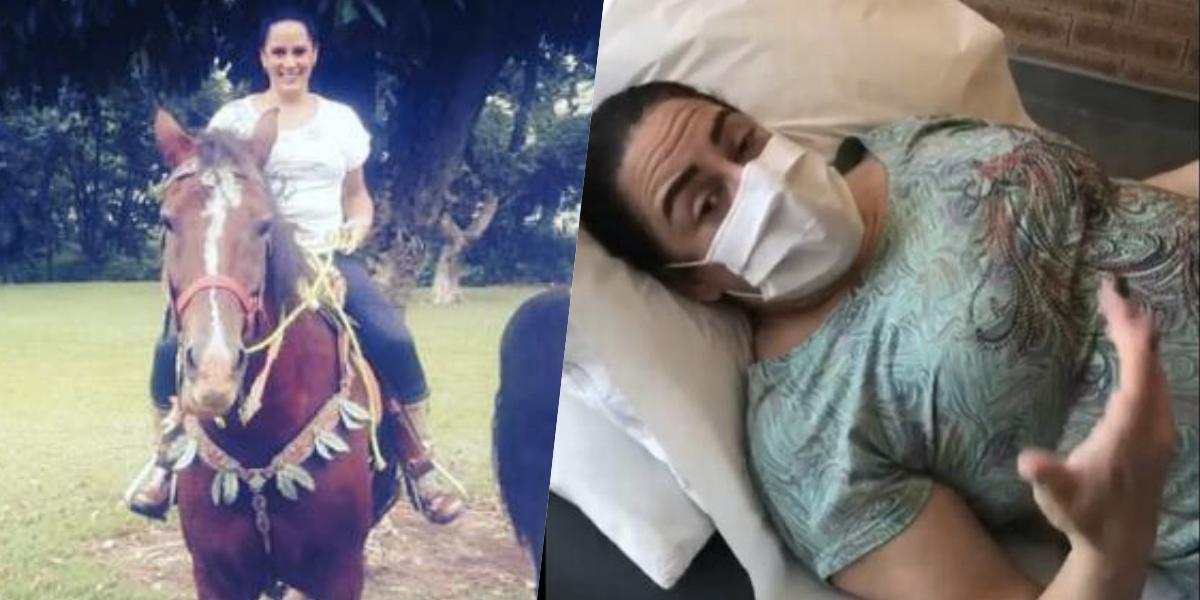 Silvia Abravanel sofreu um acidente de cavalo (Foto: reprodução/Instagram)
