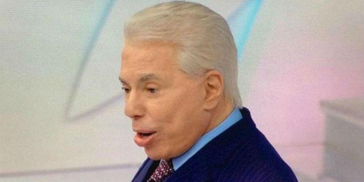 Silvio Santos de cabelo grisalho (Foto: Reprodução/SBT)