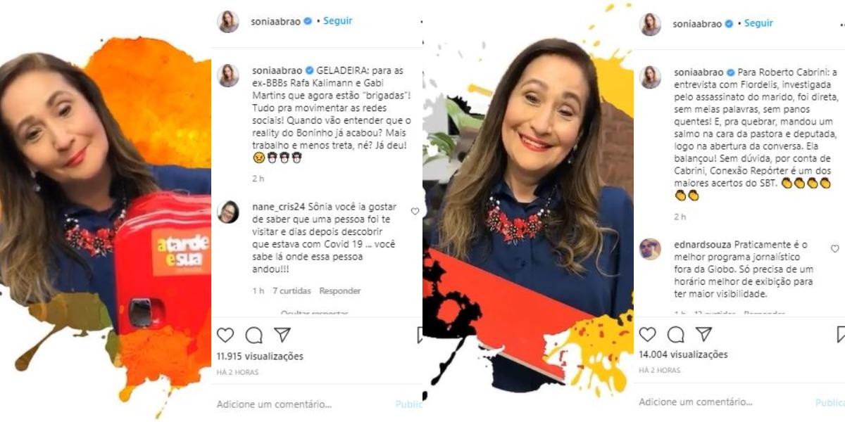 """Sonia Abrão do """"A Tarde é Sua"""" (Foto: Reprodução/Instagram)"""