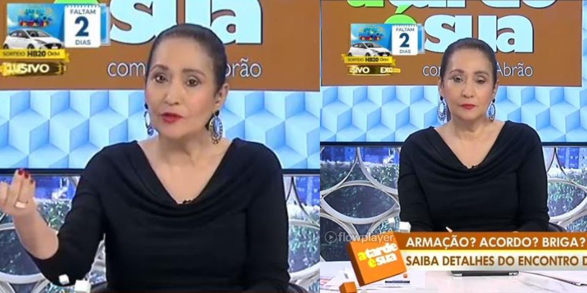 """Sonia Abrão se revoltou no """"A Tarde é Sua"""" (Foto: Reprodução/RedeTV!)"""