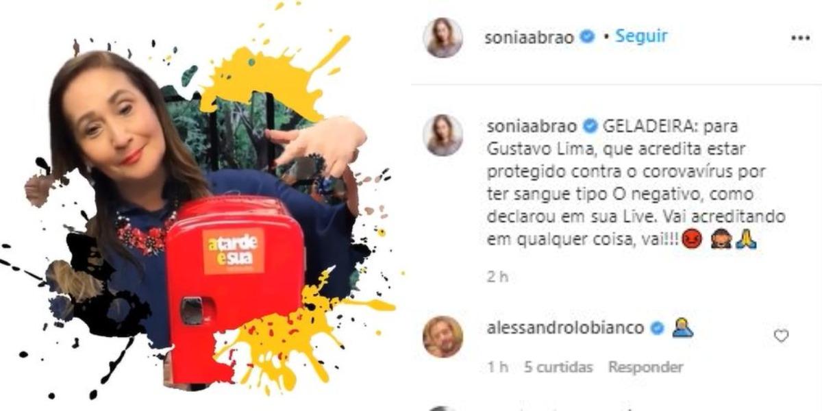 Sonia Abrão mandou Gusttavo Lima para a geladeira (Foto: Reprodução/Instagram)